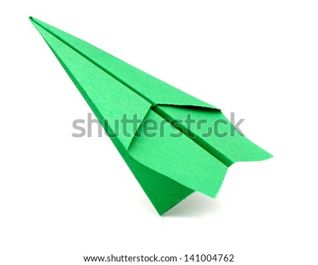 A origami plane - stock photo