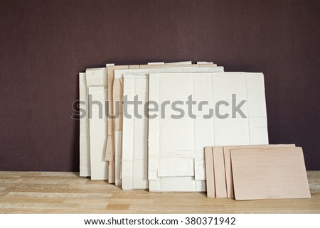 A pack of carton mackle of different sizes - stock photo