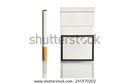 A pack of cigarettes and cigarette - stock photo