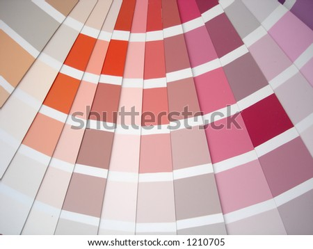 A paint swatch - stock photo