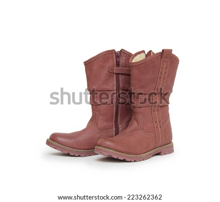 A pair of boots isolated on a white background.
