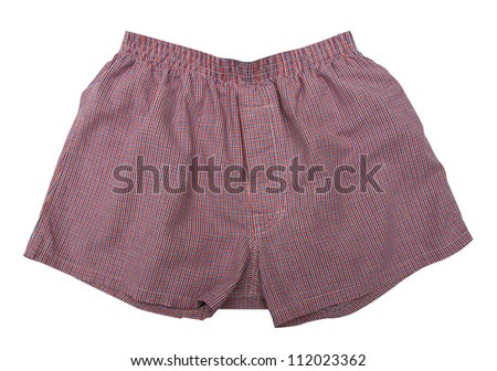 A pair of boxer shorts isolated on white background