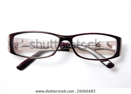 A pair of glasses isolated on a white background