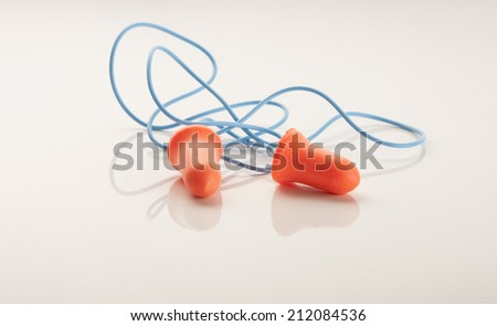 A pair of hearing protection ear plugs - stock photo