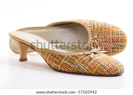A pair of mule shoes - stock photo
