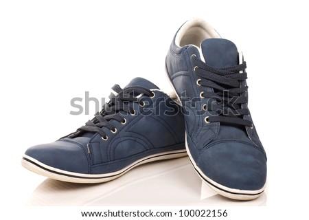 A pair of regular sneakers - stock photo