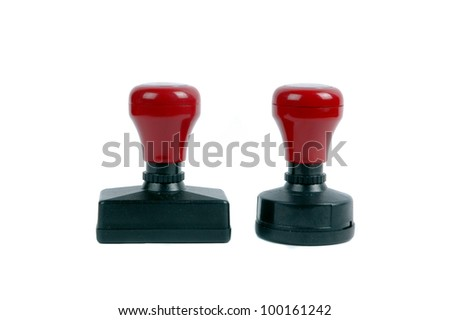 a pair of stamps - stock photo