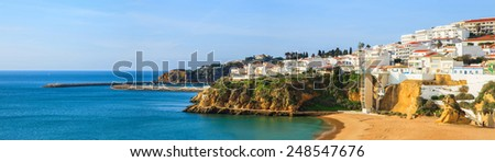 A panorama of Albufeira, Portugal - stock photo