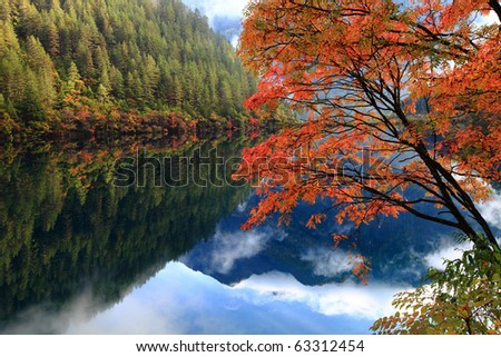 A Paradise on Earth - Jiuzhaigou - stock photo