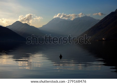 A part of Boka Kotorska.Montenegro. - stock photo