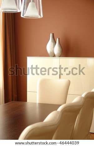 a part of dinning room - stock photo