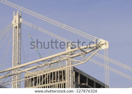 a part of metal sling and construction building