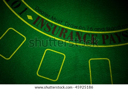 A part of poker table - stock photo
