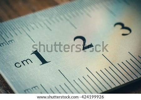 a part of ruler macro - stock photo