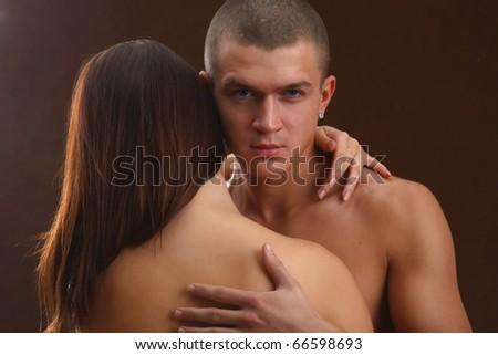 a passionate couple - stock photo