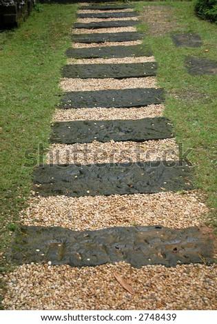 a path - stock photo