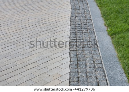 A pathway in the garden   - stock photo