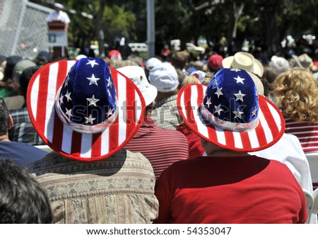 A patriotic couple - stock photo