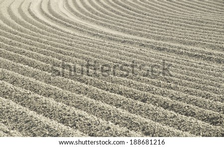 a pattern in cultivated land - stock photo