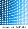A pattern of blue circles. - stock photo