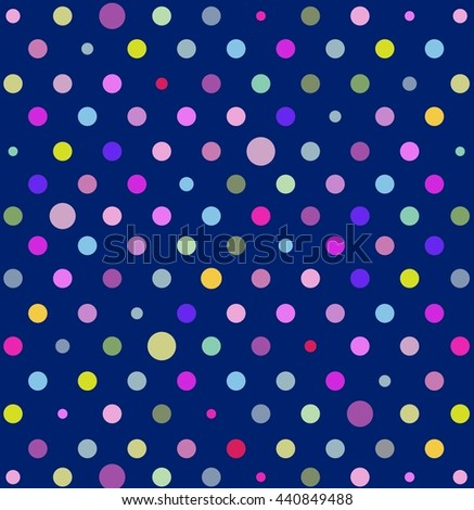 Pattern texture colorlful polka dots on stock illustration a pattern or texture with colorlful polka dots on blue background for backgrounds blogs voltagebd Images