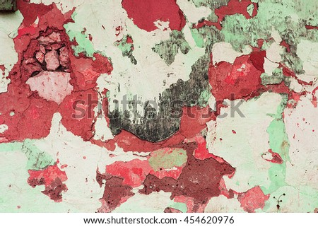 a peeling wall of the building - stock photo