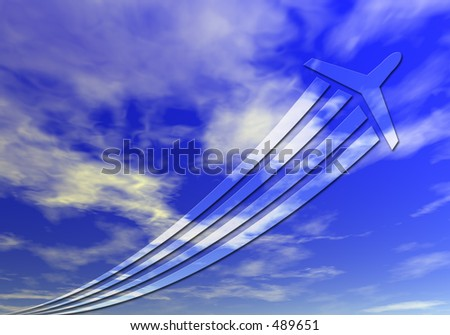 A perfect backdrop for a high flyers double page spread or large format display - stock photo