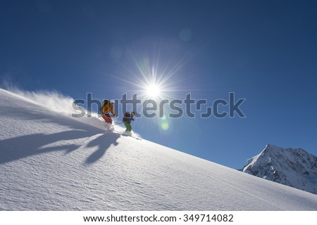 a perfect winter day - stock photo