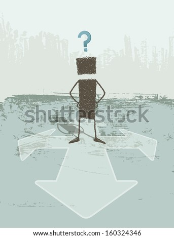 A person does not know which path to choose.  - stock photo