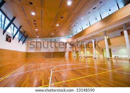 Perspective view basketball indoor sport court stock photo for Indoor sport court