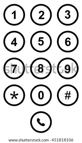 A Phone keypad on touchscreen device - stock photo