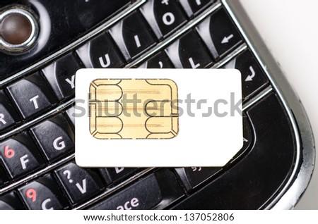 a phone sim card - stock photo