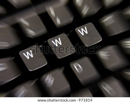 A photo of a keyboard with WWW keys - stock photo