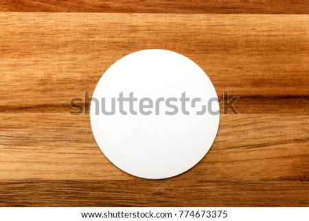 Photo round white business card on stock photo royalty free a photo of a round white business card on a rustic wooden texture a mockup reheart Choice Image