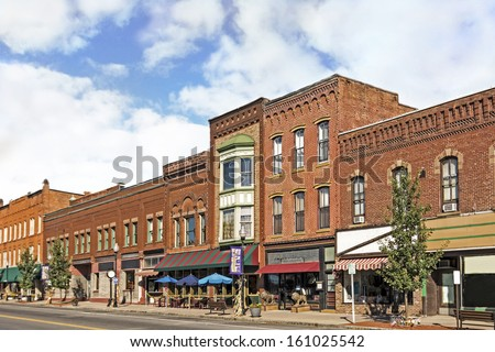 Small town main street stock images royalty free images for The smallest town in the united states