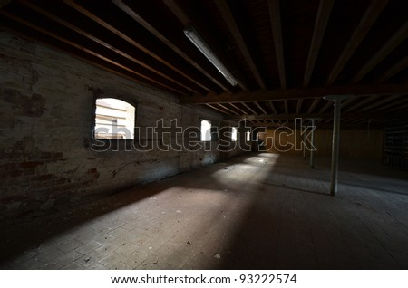 A photo of an abandoned brewery - stock photo