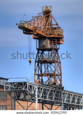 A photo of an old gantry cranes