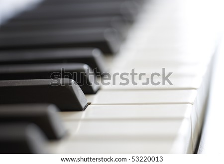 A photo of an old piano - close up - stock photo
