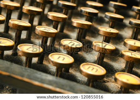a photo of an old typewriter - stock photo