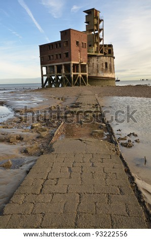 A photo of an old World War II Fort - stock photo