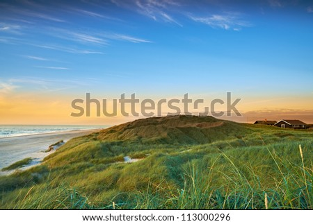 A photo of coastline in Jutland, Denmark