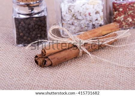 a photo of fresh cinnamon - stock photo