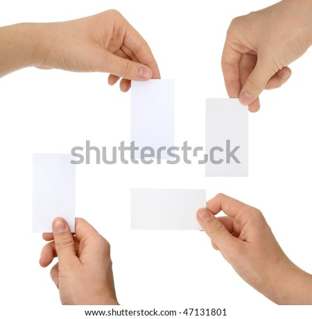 a photo of hands with cards - stock photo