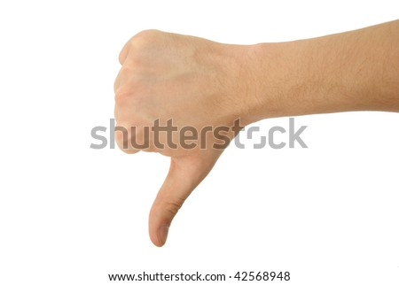 a photo of isolated hand with clipping path - stock photo