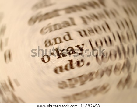 a photo of  okay  word in dictionary - stock photo