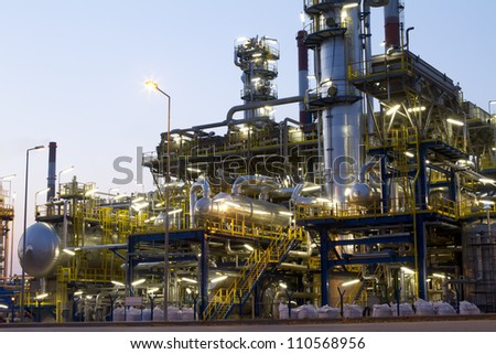 A photo of petrochemical industrial plant.