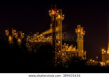 A photo of power plant industrial  - stock photo