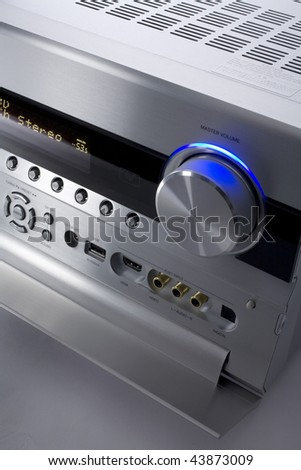 a photo of silver receiver - stock photo