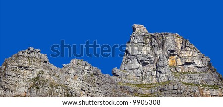 A photo of the famous Table Mountain in Cape Town, South Africa - stock photo