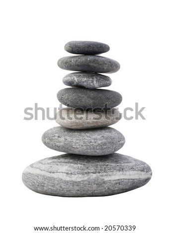 a photo of tower made of stones